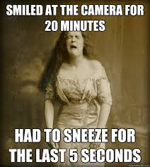 Sneeze Meme - smiled at the camera for 20 minutes had to sneeze for the last 5