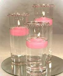 Rainbow Wedding Centerpieces by Floating Candles With Submerged Roses Are So Simple And Elegant