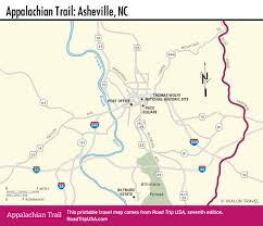 Map Of Asheville Nc Appalachian Trail Driving Route Road Trip Usa