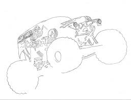 free printable monster truck coloring pages kids grave