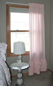 Ruffled Pink Curtains Ruffled Curtain Shabby Chic Emilee Ruffled Curtain Panel In Light