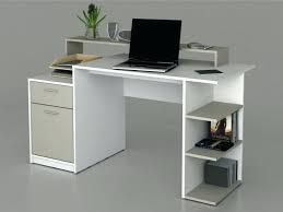 bureau ordinateur blanc laqué bureau informatique design bureau angle design bureau informatique