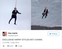 Meme Keychains - the flying harry styles meme is soaring across the internet right now