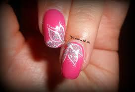 elegant u0026 simple glitter flowers tutorial nail art fiori