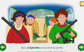 caillou u0027s road trip adventure story u0026 activities android apps