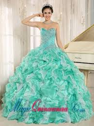 15 quinceanera dresses custom made apple green beaded and ruffles 2015 sweet 15