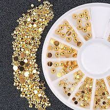 gold rhinestones nail art accessories ebay