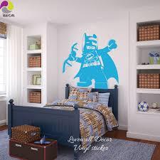 popular superhero wall decal buy cheap superhero wall decal lots cartoon lego batman wall sticker boys room baby nursery lego superheros wall decal kids children room