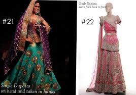 Different Ways Of Draping Dupatta On Lehenga Dupatta Draping Styles 13 Bride Pinterest Clothing And