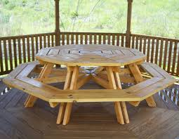 stylish wooden octagon picnic table octagon picnic table plans