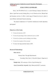 customer satisfaction towards karvy stock exchange project report mba u2026