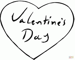 valentines hearts coloring pages valentines page heart for