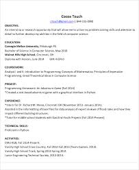 resume for internship in computer science pdf files 54 engineering resume templates free premium templates