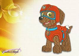 dog rubble paw patrol embroidery design 3 sizes u0026 8 formats