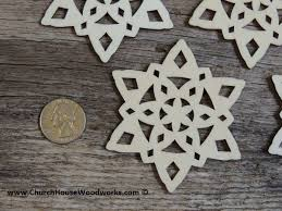 3 inch snowflake wood ornaments 10 pack style 3