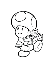 printable toad coloring pages super bros mario brothers baby