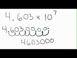 working with scientific notation how to go from scientific notation to standard form