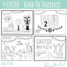 coloring placemats easter printables wall kid placemats freebies alesha