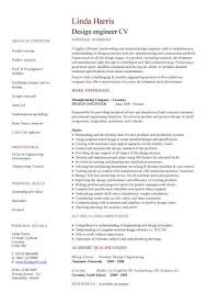 Structural Design Engineer Resume Engineering Cv Template Engineer Manufacturing Resume Industry