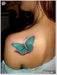 butterfly on back shoulder
