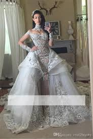 high wedding dresses 2011 discount 2018 new high neck lace appliques beaded a line