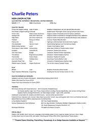 Beginner Resume Examples by Beginner Theater Resume How To Make A Beginner S Acting Resume W