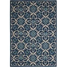 Navy Runner Rug with Outdoor Rugs