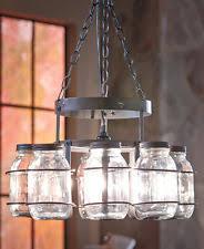 Pottery Barn Mason Jar Chandelier Mason Jar Light Ebay