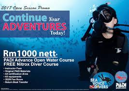 wts padi scuba diving courses