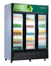 graceful three glass door display and vertical commercial freezer