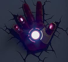 3d deco superhero wall lights 3d light fx marvel iron man hand 3d deco led wall light the