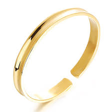 allergy free jewelry women bangles gold color fashion jewelry metal bracelets