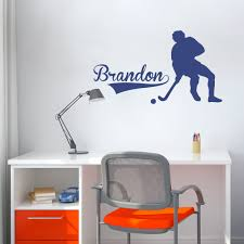 Cool Hockey Bedroom Ideas Hockey Wall Decals Art Color The Walls Of Your House
