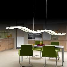 soggiorno sala da pranzo sinfull moderno bianco acrilico led ladari wave design