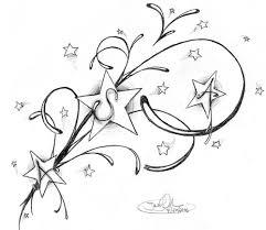 stars and swirls tattoo designs