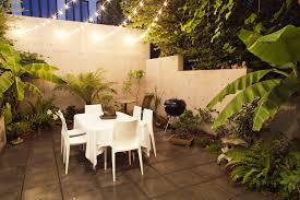Patio Cafe Lights by Cafe Lights String Patio Contemporary With Container Plants