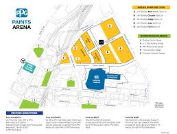 at t center floor plan directions u0026 parking ppg paints arena