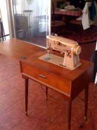Singer Sewing Machine Cabinets by Rare Singer 301 Trapazoid Sewing Cabinet Closed Sewing Machines
