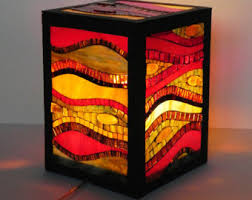 mosaic floor lamp etsy