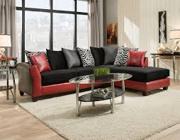 red and black sectional las vegas furniture store modern home