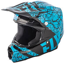 motocross helmet light f2 carbon fracture light blue black helmet fly racing