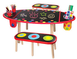 crayola table and chairs alex toys young artist studio super art table w paper roll wood