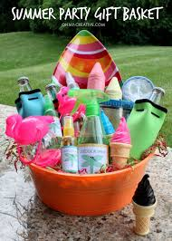creative gift baskets summer party gift basket oh my creative