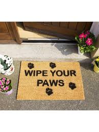 Wipe Your Paws Rubber Backed Ckb Ltd Novelty Coir Doormats With Funny Quotes U0026 Designs