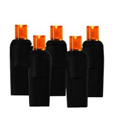 celebrations halloween c9 light set 25 lights orange
