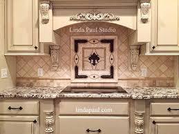 backsplash medallions kitchen fleur de lis backsplash home designs idea