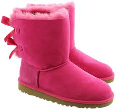 ugg boots australia pink ugg bailey bow boots in pink in cerise