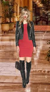 knee high boots with your herve leger tayler bandage dress my