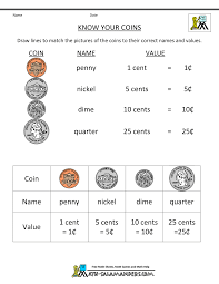 Free Printable First Grade Phonics Worksheets Money Printable Worksheets Know Your Coins Us Gif 1 000 1 294