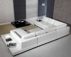 White Sofa Leather White Sectional Arabella Sectionals